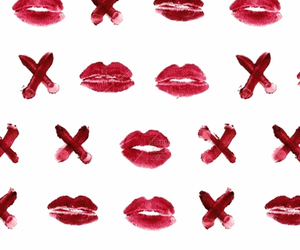 background, girl, and kiss image