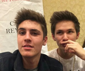 carter reynolds, magcon, and sam wilkinson image