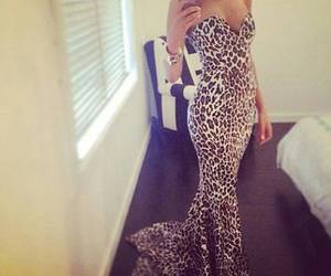 dress and leopard image