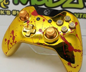 controller, gold, and xbox image