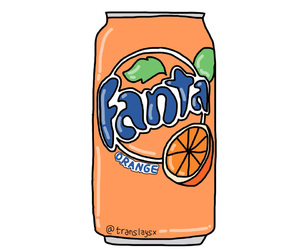 fanta, overlay, and orange image