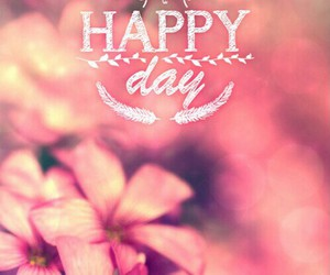 happy, flowers, and day image