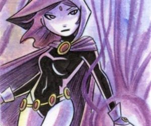 art, DC, and raven image