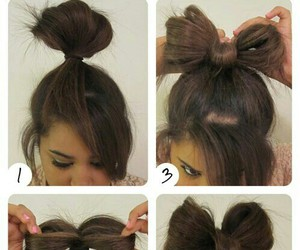 hair, bow, and diy image