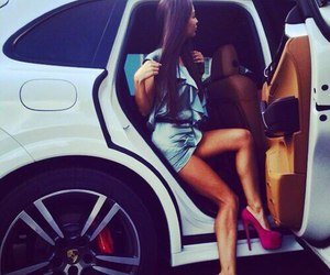 body, girl, and car image