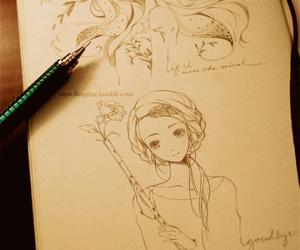 beautiful, kawaii, and draw image