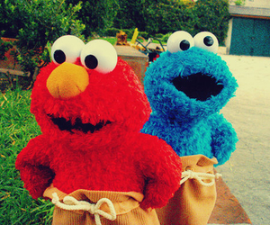 elmo, cookie monster, and blue image