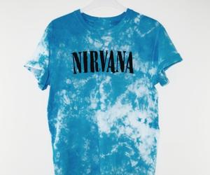blue, fashion, and kurt cobain image