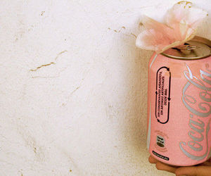pink, coca cola, and flowers image