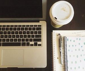 study, tumblr, and coffee image