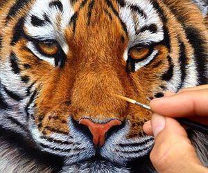 animal, art, and tiger image