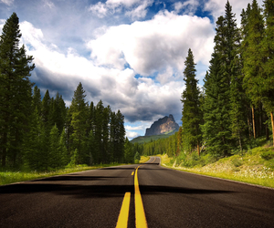 road, nature, and sky image