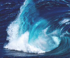 background, waves, and blue image