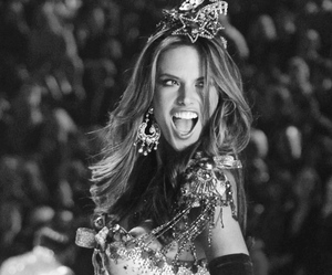 alessandra ambrosio, beauty, and black and white image