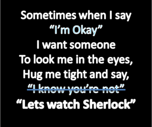 sad and sherlock image
