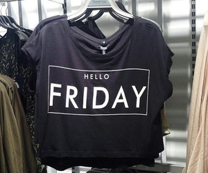 friday, black, and hello image