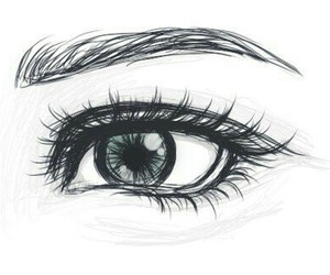 eye, drawing, and art image