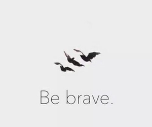 be brave, believe, and birds image