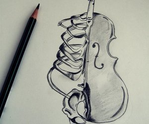 art, music, and drawing image