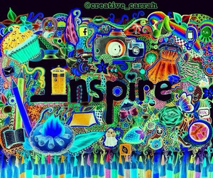 inspire, art, and colorful image