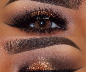 beauty, lashes, and eyeshadow image