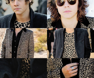 Harry Styles, one direction, and leopard image
