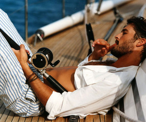 Hot, boat, and guy image
