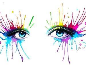 art, artwork, and eyes image