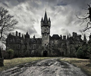 castle, dark, and belgium image