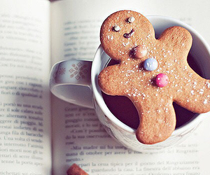 book, christmas, and cookie image