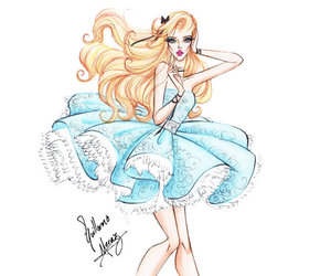 drawing, disney, and alice in wonderland image