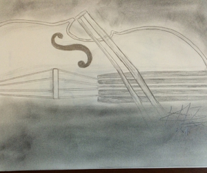 drawing, music, and instrument image