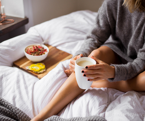 breakfast, bed, and tea image