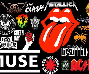 ACDC, green day, and metallica image