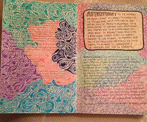 blue, circle, and wreckthisjournal image