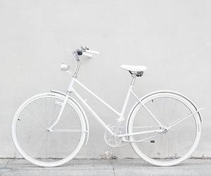 white, bike, and bicycle image