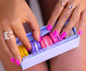 beauty, macarons, and nails image