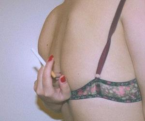 cigarette, grunge, and smoking image