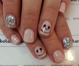 nails, glitter, and Halloween image