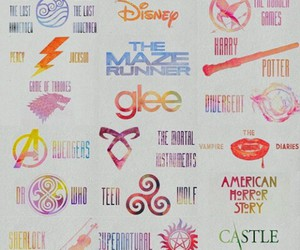 Avengers, glee, and harry potter image