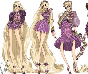 disney, fashion, and rapunzel image