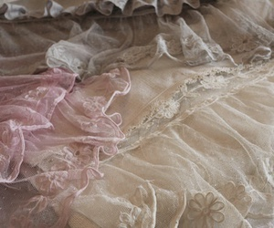 clothes, flowers, and lace image