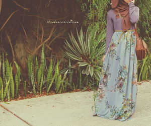 hijab and floral image
