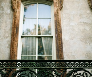 window, vintage, and balcony image
