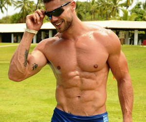 guy, shirtless, and jonas sulzbach image