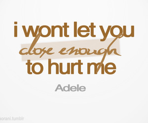 Adele, quotes, and typography image