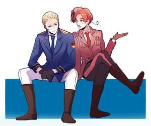 hetalia, aph germany, and gerita image