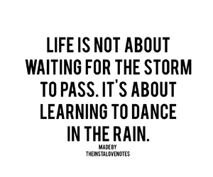 inspirational, quotes, and rain image