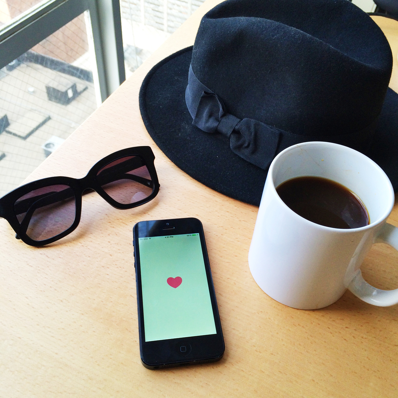 hat, iphone, and glasses image