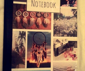 beach, flowers, and notebook image